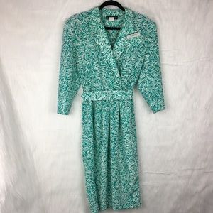Vintage Floral Floral Suit Sheath Dress